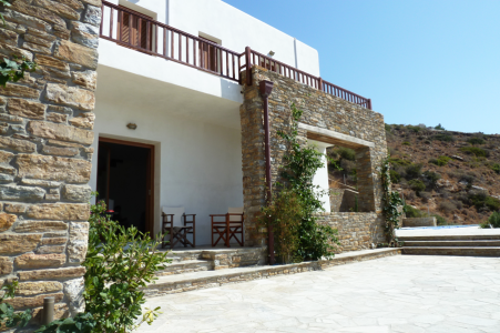 Two residences on the island of Andros